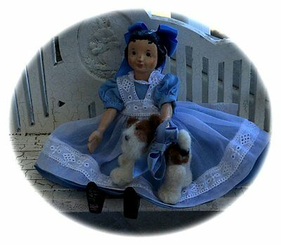 "New!!    Hitty Alice Lace & Organdy! Dress & Pinafore Pattern For 6 1/2""doll"