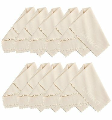 """10 Pack Microfiber Cleaning Cloth 6x7"""" - For Eyeglass, Computer Screen, Jewelry,"""