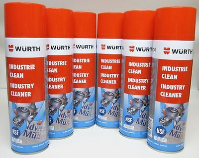 [1,62€/100ml]6x Würth Industrie Clean 500ml Etikettenentferner Industriereiniger