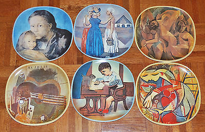 Pablo Picasso Complete Set of 6 1973 Limited Edition Collectors Plates SMI
