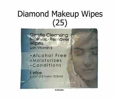 DIAMOND 25 Cleansing Makeup Remover Towelette Wipes Individually Sealed Vit E
