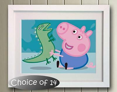 George Pig Poster Picture Print Wall Art Decor Gift  Nursery Peppa Bedroom