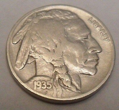 "1935 P Indian Head ""buffalo"" Nickel  **free Shipping**"
