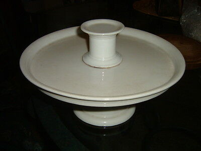 Antique French White Ironstone Pedestal Stand