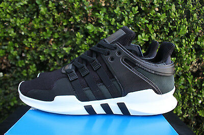 best service f11d3 fd398 Adidas Eqt Support Adv Sz 12 Milled Leather Pack Core Black White 9116  Bb1295