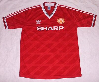 Retro Manchester United 1986-1988 Home Football Shirt Jersey Man Utd MENS LARGE