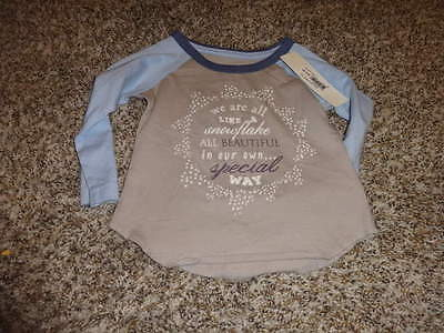Nwt New Peek Little Peanut M 6-12 Snowflake Tee Shirt