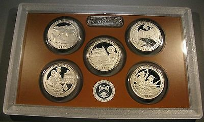 2017 S Clad Proof Quarter Set of 5 ATB Deep Cameo Proof Coin's