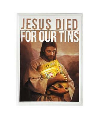 Sticker Xxxx Gold Jesus Died For Our Tins Queensland Beer Bumper Free Post
