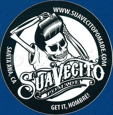 "New Suavecito Pomade - Get It, Hombre! Barber 3"" Round Version Sticker"