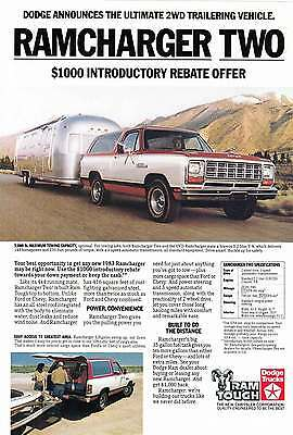 1983 Dodge Ramcharger Two: Airstream (7928)