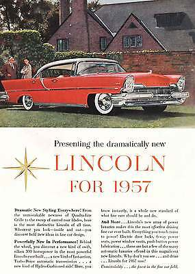 1957 Lincoln: Red, Dramatic New Styling (8916)