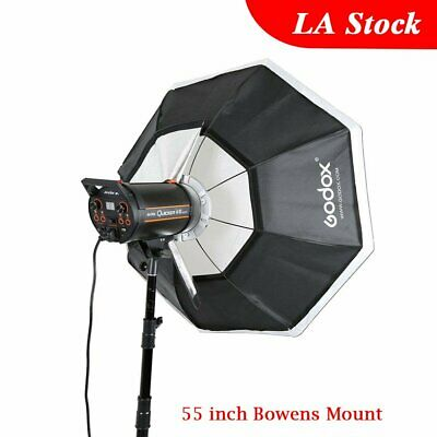 "140cm 55"" Godox Octagon Softbox Bowens Mount Studio Strobe Camera Flash Light"