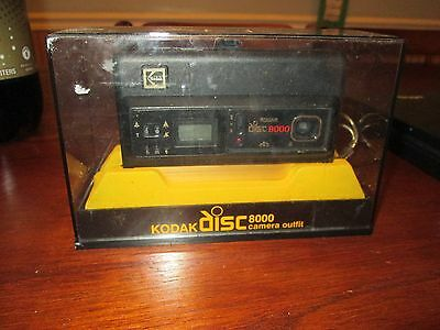 Vintage Kodak Disc 8000 Camera Outfit w Transparent Holder -Brand New Condition