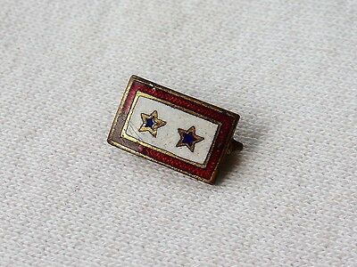 Vtg Vintage WWII 2 Sons in Service Son Double Blue Star Pin
