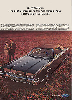 1970 Lincoln Marquis: Medium Price Car with the Most Dramatic (27418)