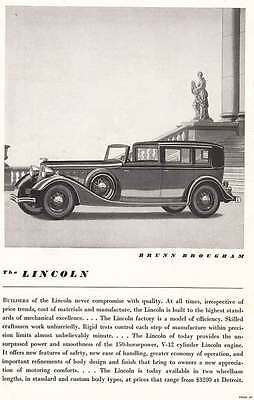1934 Lincoln Brunn Brougham: Never Compromise With Quality (6860)