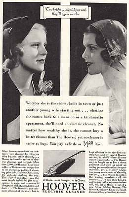 1932 Hoover Electric Cleaner: Two Brides (5834)