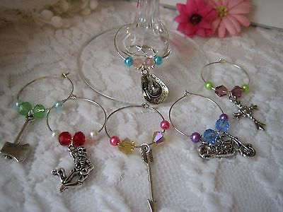 Wine Glass Charms - set of 6 - The Walking Dead