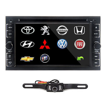 """Double 2Din 6.2"""" In Dash Stereo Car DVD CD Player Bluetooth Radio iPod SD/USB Tv"""