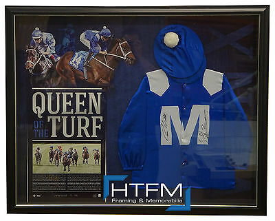 Queen of the Turf Winx Hand Signed OFFICIAL Silks Frame Bowman Waller Cox Plate