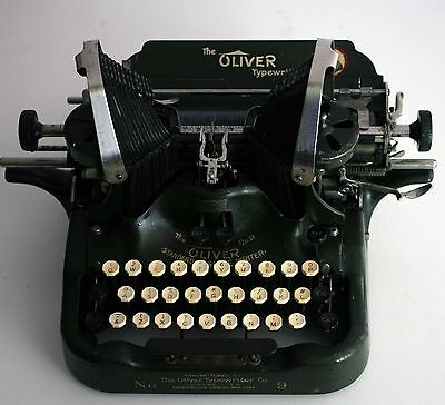 ~ Antique Oliver Typewriter No.9 **patented 1913*working***butterfly Wing Keys ~