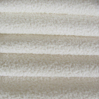 1/3 yd VIS1/SCM White INTERCAL 6mm Med. Dense Curly Matted German Viscose Fabric