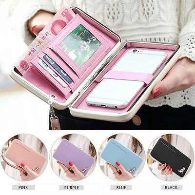 Lady Women Long Wallets Coin Purses Clutch Bags Phone Case For iPhone 6 Plus