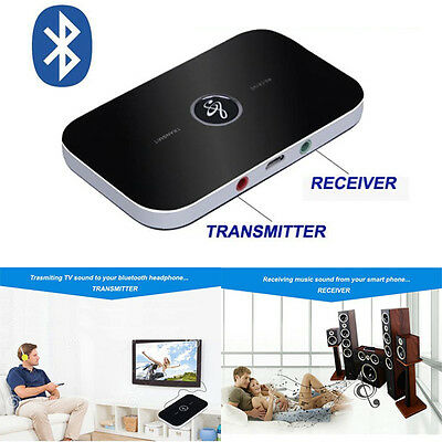 Wireless Bluetooth 2-in-1 Audio Music A2DP Receiver+Transmitter Adapter AUX OUT