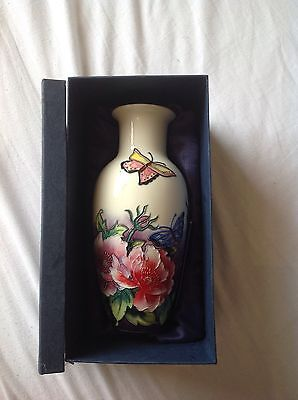 Old Tupton ware butterfly flower print vase