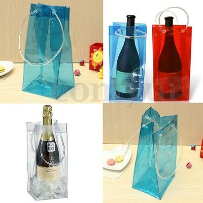 PVC Wine Beer Champagne Drink Ice Bag Bottle Cooler Chiller For Parties Picnics