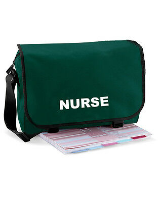 Nurse Green Messenger Bag | Paramedic, Ambulance, Medic- FREE Delivery FREE Gift