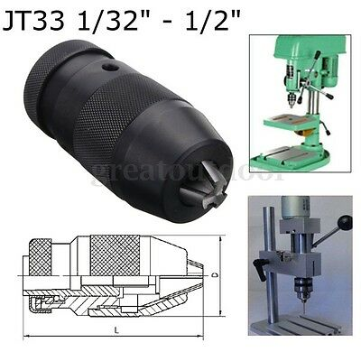 Keyless 1/32''- 1/2'' Drill Chuck Self Tighten JT33 Mount in Prime Quality