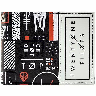 New Official Twenty One Pilots Blurryface Band Black Id & Card Bi-Fold Wallet