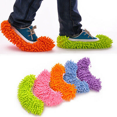 Dust Mop Slipper House Cleaner Lazy Floor Dusting Cleaning Foot Shoe Cover