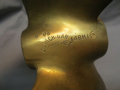 vtg Brass Propeller-Michigan Dyna-Jet 14RH