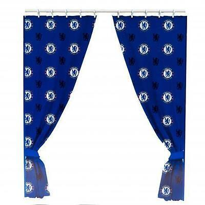 Official Licensed Football Product Chelsea Curtains 66' x 72' Bedroom Gift New