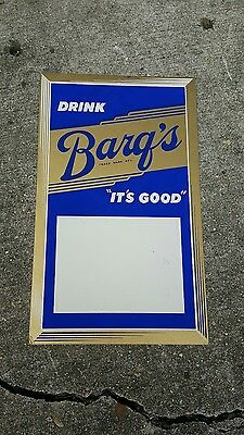 "Vintage Barqs Root Beer Advertising Soda Sign,""IT'S GOOD"""