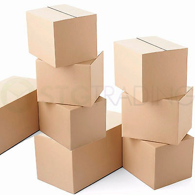 "25 x Small Cardboard Mailing Shipping Boxes 6x6x6"" Cube"