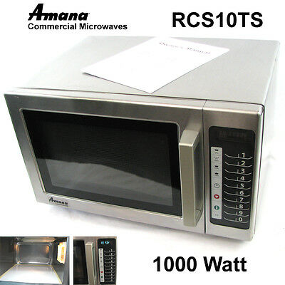 Amana RCS10TS Stainless Steel 1000W Commercial Microwave Oven 1.2 cu.ft. 120V