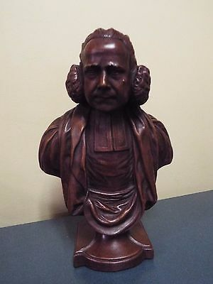 George Whitefield - Wood Stained Resin Bust