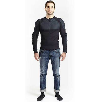 Bowtex Unisex Black Motorcycle Motorbike Kevlar T-Shirt Base Layer | All Sizes