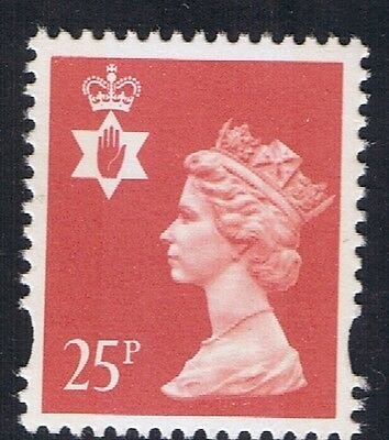 GB QEII Northern Ireland. SG NI72 25p Red 2B. Regional Machin