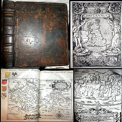 1607 Britannia William Camden 1St Map Edition 57 Complete Maps England U.k. $$$