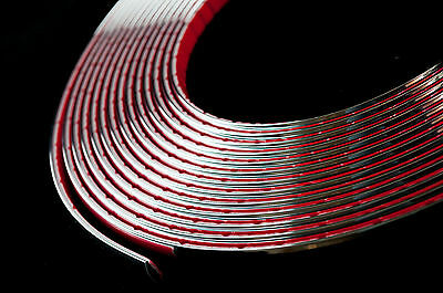 2 meter Chrome Car Styling Moulding Strip Trim Adhesive 6mm Width x 2mm Depth