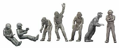 Denizen Rally Pit Crew White Metal Unpainted Figurine Set - 1/43 Scale