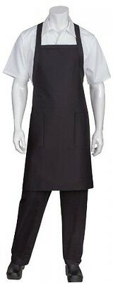 Chef Works Cross-Back Bib Apron  Cooking Cook Pocket Restaurant Poly Cotton