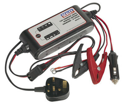 Compact Auto Digital Battery Charger - 9-Cycle 12V From Sealey Smc02 Syp