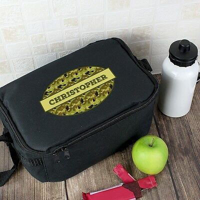 Personalised KHAKI CAMOUFLAGE LUNCH BAG Lunch Box Lunch Carrier Back to School