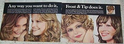 1972 advertising - Clairol Frost & Tip hair color CUTE girls haircolor PRINT AD